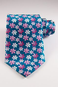Daniel Bruce: Made in Italy Flower Power Tie  Available at www.dibities.com