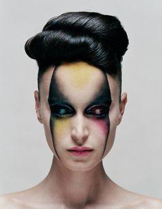 high bun; alien #hair #beauty #makeup