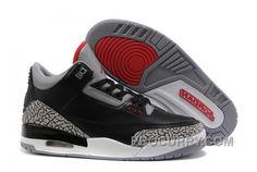 finest selection 09589 49b72 Air Jordan 3 (III) Black Cement Grey-Varsity Red