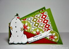TLC559, Twisted Card Gift Holder-No Man Like a Snowman by Benzi - Cards and Paper Crafts at Splitcoaststampers