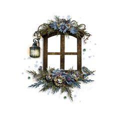 RR_WhispersOfWinter_Cluster4.png ❤ liked on Polyvore featuring christmas, windows, winter, xmas, frame, borders, filler, picture frame, embellishment and detail