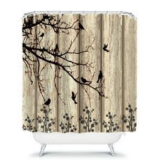 Yiger Rustic Country Barn Wood Door Polyester Shower Curtain Adjustable Hook New