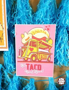 Taco Truck Sign from a Taco Bout Love Valentine Taco Party | Mandy's Party Printables #valentineparty #tacoparty #tacoboutlove #ilovetacos #MPP #fiesta