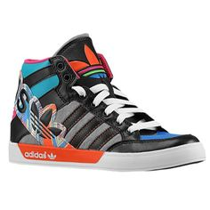 best sneakers 1f0cf 19d88 Multi Colored Hightop Adidas Big Logo Wedge Sneakers, Girls Sneakers,  Sneakers Fashion, High