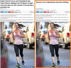 """Woman runs in appropriate exercise clothing."" 13 Snarky News Headlines About Women, Improved"