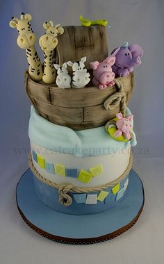Noah's Ark cake by ♥Dot Klerck....♥, via Flickr