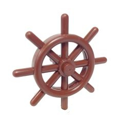 Lego Parts: Boat Ship's Wheel (Reddish Brown) Construction Toys For Boys, Lego Factory, Lego Boat, The Ring 1, Ship Wheel, Building For Kids, Lego Parts, Reddish Brown, Ships