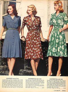 How we wear vintage // - vintage outfits Vintage Mode, Moda Vintage, Vintage Style, 1940s Style, Retro Vintage, Vintage Music, Vintage Hats, Vintage Fabrics, Fashion Days