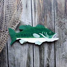 DANGER MEN FISHING porcelain finish metal magnet fish fisherman bass lake ocean