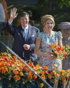 Dutch King Willem-Alexander and Queen Maxima celebrate King's Day on 26.04.14 in De Rijp, Netherlands