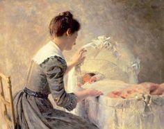Motherhood by Louis-Emile Adan (1839 – 1937, French)