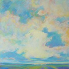 """Small canvas originals make the perfect meaningful gift –""""What I See in the Clouds"""""""