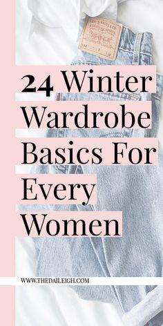 Winter Wardrobe Basics