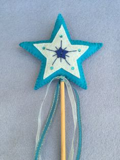 Felt Fairy Wand  Blue Star by TheDelightfulBee on Etsy