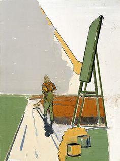 Neo Rauch, Sucher, 1997, oil on canvas, 60 x 45 cm. Private Collection, © VG Bild-Kunst, Bonn 2011 / Courtesy Galerie EIGEN + ART Leipzig/Berlin, and David Zwirner, New York,