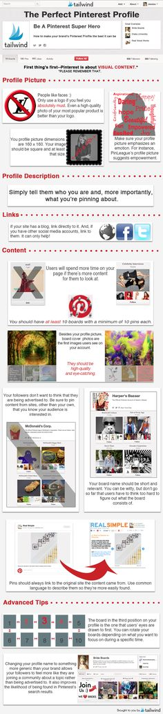Perfect Pinterest Profile Check-List [Infographic] from @Tailwind Team Team Team