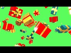 Green Screen Waterfall Christmas Gift Boxes - Footage PixelBoom - YouTube