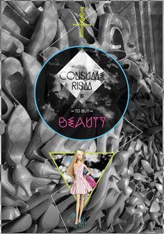 Consumerism is the new Religion. by GiadaLand , via Behance  #consumerism #brain #mind #control #consumerismisthenewreligion #sad #marionette #massmedia #takecontrol #newgeneration #exhibition #antwork #aw5 #giadaland #graphicdesign #design #poster #sequi #barbie #buybeauty #beauty #triangle #green #fashion #shoes
