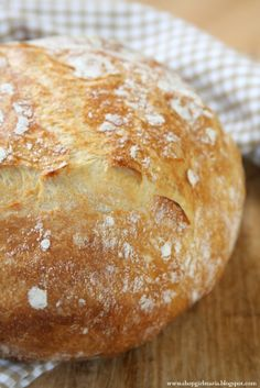 Whole Wheat No-Knead Bread Recipe (she: Maria) Knead Bread Recipe, No Knead Bread, Pesto Bread, Bread Recipes, Cooking Recipes, Muffins, Bread Bowls, Our Daily Bread, Le Diner