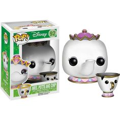 We LOVE this Beautiful Mrs. Potts And Chip Beauty and The Beast Pop! Vinyl Figure