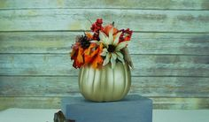 Thanksgiving decor or centerpiece. Use code SHOPSMALL150 for discount. Gold Pumpkin Centerpiece by That Dream You Dream #shopsmall150