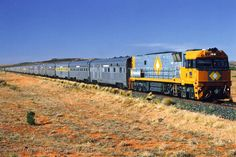 The Ghan train runs from Adelaide to Darwin