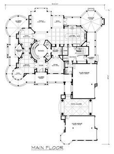 Farmhouse Plan: 10,275 Square Feet, 5 Bedrooms, 7.5 Bathrooms - 341-00302 Luxury Floor Plans, Luxury House Plans, Best House Plans, Dream House Plans, Modern House Plans, Small House Plans, House Floor Plans, Castle Floor Plan, Castle House Plans