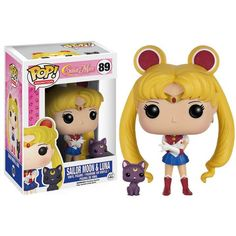 This is a Funko Sailor Moon with Luna POP Vinyl Figure. Standing 3.75 inches tall, the Sailor Moon POP Vinyl figureissuper cute! It's great to see that the S