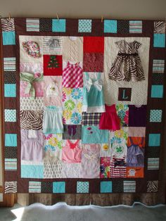 Items similar to Memory Quilt / First Year Quilt / Year Blanket / Baby Clothes Quilt / Custom Made / on Etsy Quilt Baby, Baby Memory Quilt, Memory Quilts, Memory Pillows, Baby Clothes Blanket, Cool Baby Clothes, Quilts From Baby Clothes, Babies Clothes, Fall Clothes