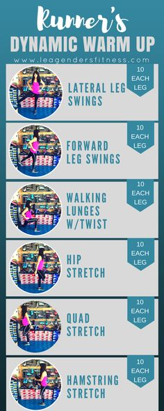 Runner's Dynamic Warm Up to improve performance and help prevent injury. Save to your favorite workout Pinterest board for later.