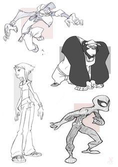Monkeys, Gurl and Spider by XAV-Drawordie on DeviantArt