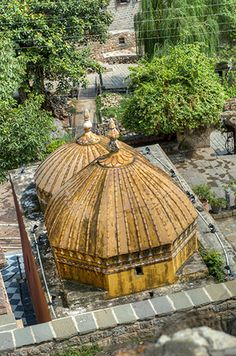 Hindu Temple at Saidpur Village, Islamabad, Pakistan. Saidpur is a Mughal-era village on the slopes of the Margalla Hills and located off the Hill Road to the east of Daman-e-Koh.