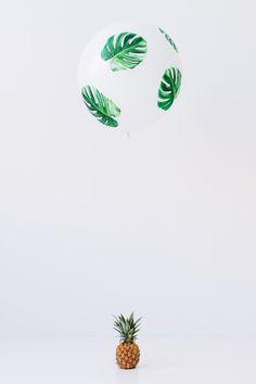 DIY Palm Leaf Balloons