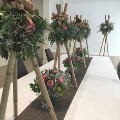 Stunning native flowers for the Sheraton Marina Mirage from Twigs Florist Varsity Lakes Corporate Flowers, Table Arrangements, Lakes, Ladder Decor, Nativity, Wedding Flowers, Wedding Inspiration, Display, Floral