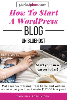How To Start A Wordpress Blog On Bluehost - Ever thought about quitting your job and starting a brand new career? That's exactly what I did 6 years ago and since then, blogging has completely changed my life! I was able to turn a side project into a full time, six figure salary job (I made $127,000 last year!). It's helped me branch out as a food and product photographer, recipe developer and food stylist. I work from home and choose my own hours. You can't beat that! #startablog #blogging