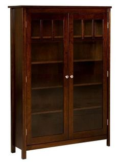 Amish Mission Single Bookcase Bookshelves made in mission style with solid wood, this fine Amish furniture glows in any office. Customize in choice of wood and stain. #bookcase