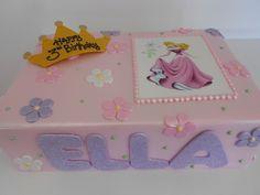 Princess sleeping beauty birthday cake