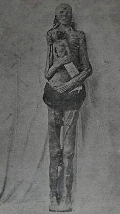 Las Momias Martindale fueron descubiertos en 1885 . En el gran valle de Yosemite en California. Un grupo de mineros encabezado por G.F. Martindale encontraron los restos de una mujer de más de dos metros de altura, que sostenia a un niño momificado, en una cueva detrás de una pared de roca. Estas momias son actualmente propiedad del Museo de Ripley .