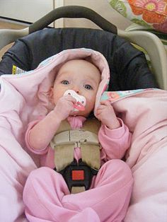 Hooded Car Seat tutorial - Keep your baby warm and safe Car Seat Blanket 799406a9d607