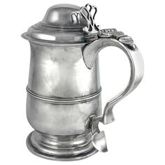 Georgian Sterling Tankard by Peter & Ann Bateman (London 1800-1801) | From a unique collection of antique and modern sterling silver at http://www.1stdibs.com/furniture/dining-entertaining/sterling-silver/