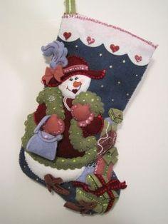 Bucilla Felt Christmas Stocking - CraftStylish