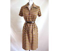 60s Vintage Flame Stitch Knit Shift Dress Silky Acetate Nylon Blend 40 Bust by LilBlackDressVintage on Etsy