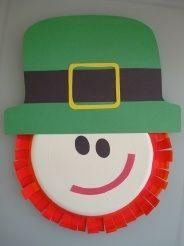 preschool craft, leprechaun made from a paper plate