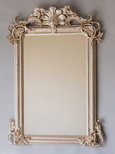 Régence Style Silvered Mirror, France circa 1880 | From a unique collection of antique and modern wall mirrors at https://www.1stdibs.com/furniture/mirrors/wall-mirrors/