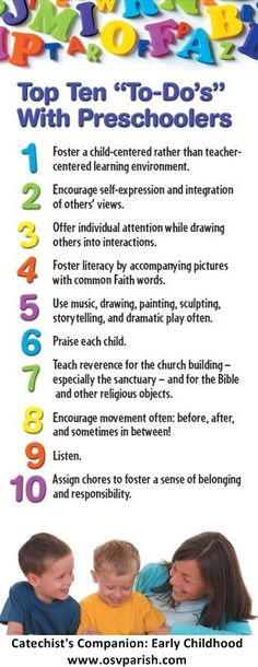 Start the school year right with some tips from OSV's Catechist Companion: What You Need to Know, Early Childhood!