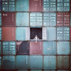 JR's Stunning Ballerina on Shipping Containers in France
