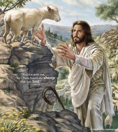 Jesus Christ coming for his sheep. Those of us who are saved are the sheep of the Lord Jesus Christ. I'm so proud to be a child of God. Lord Is My Shepherd, The Good Shepherd, Jesus Shepherd, Bible Art, Bible Scriptures, Pictures Of Christ, Jesus Is Lord, Christian Art, Religious Art
