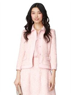 Oscar de la Renta LONG SLEEVE JACKET WITH POCKETS