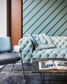 On October 12th @baxtermadeinitaly baxtermadeinitaly opens its new Store in Amsterdam inside an old building in the heart of the city! The original spaces have thus restored but preserved at the same time. Turquoise dove egg blue and cognac are the main colours while the #ChesterMoon sofa pre-eminently symbol of Baxter world becomes the room's main character. #archiproducts #baxtermadeinitaly @baxtershopamsterdam #baxteramsterdam #edha#edhainterieur #newshop #newstore #newstoreopening…