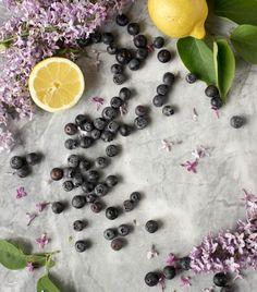 Blåbär Citron Syrener Blueberry foodstyling Lemon